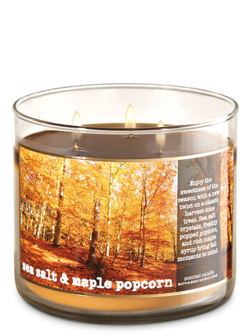 Sea Salt & Maple Popcorn 3-Wick Candle - Bath And Body Works