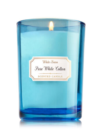 Pure White Cotton Medium Candle - Bath And Body Works