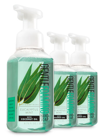 Eucalyptus Mint 3-Pack Gentle Foaming Soap - Bath And Body Works