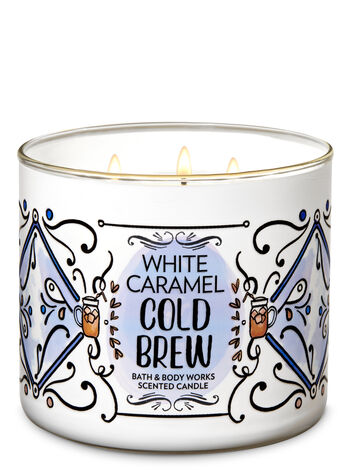 White Caramel Cold Brew 3-Wick Candle - Bath And Body Works