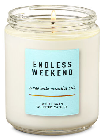 Endless Weekend Single Wick Candle - Bath And Body Works