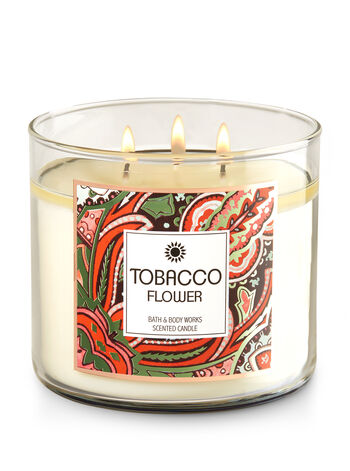 Tobacco Flower 3-Wick Candle - Bath And Body Works