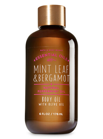 Mint Leaf & Bergamot Body Oil with Olive Oil - Bath And Body Works