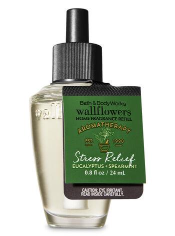 Aromatherapy Stress Relief - Eucalyptus & Spearmint Wallflowers Fragrance Refill - Bath And Body Works