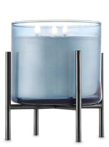 Black Nickel Pedestal 3-Wick Candle Sleeve