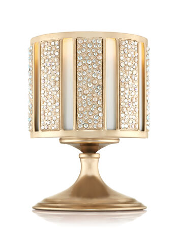 Champagne Pearl Gem Pedestal 3-Wick Candle Sleeve