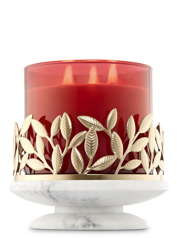 Golden Marble Pedestal 3-Wick Candle Sleeve