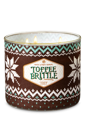 Toffee Brittle 3-Wick Candle - Bath And Body Works