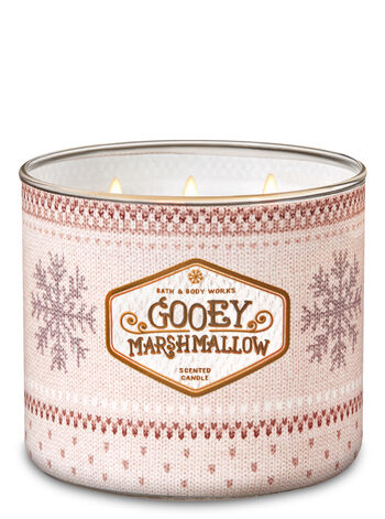 Gooey Marshmallow 3-Wick Candle - Bath And Body Works