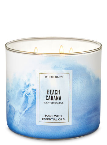 White Barn Beach Cabana 3-Wick Candle - Bath And Body Works