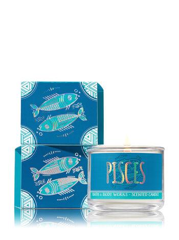 Pisces Blue Ocean Waves Mini Candle