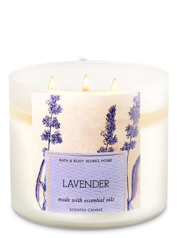 Lavender 3-Wick Candle - Bath And Body Works