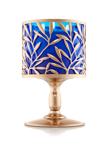 Champagne Vine Pedestal 3-Wick Candle Sleeve