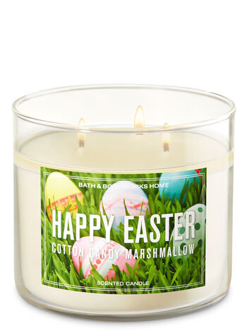 Cotton Candy Marshmallow 3-Wick Candle - Bath And Body Works