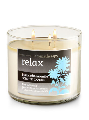 Aromatherapy Relax - Black Chamomile 3-Wick Candle - Bath And Body Works