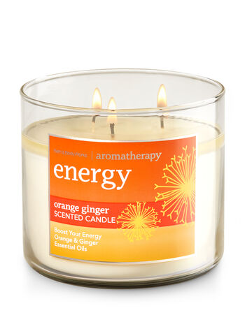Aromatherapy Orange Ginger 3-Wick Candle - Bath And Body Works