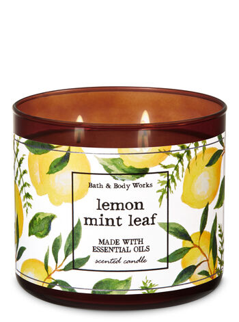 Lemon Mint Leaf 3-Wick Candle - Bath And Body Works