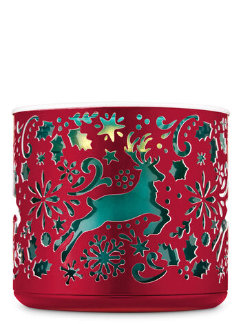 Prancing Deer 3-Wick Candle Holder - Bath And Body Works