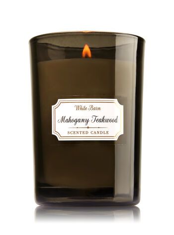 Mahogany Teakwood Medium Candle - Bath And Body Works