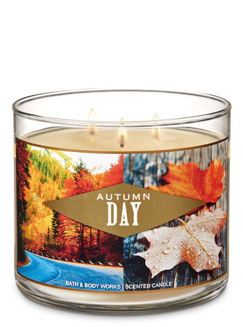 Autumn Day 3-Wick Candle - Bath And Body Works
