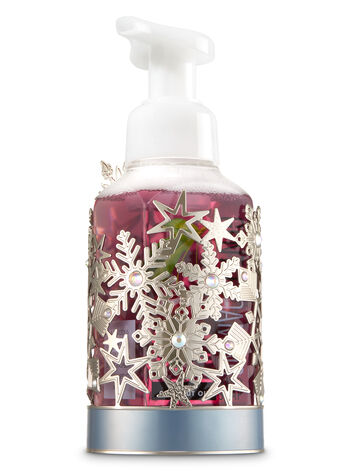 Silver Snowflake Half Soap Sleeve