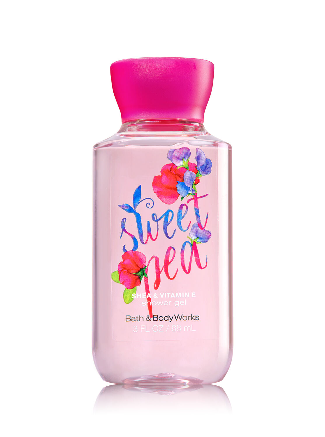 signature collection sweet pea travel size shower gel bath and body works