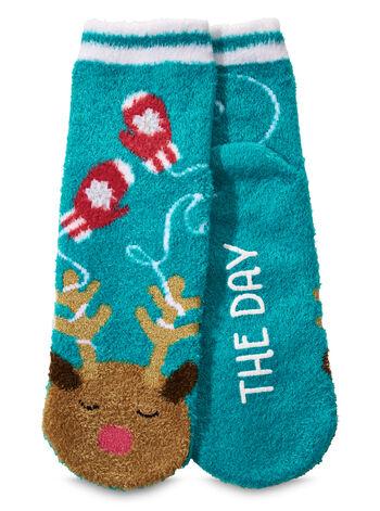 Riley the Reindeer Shea-Infused Lounge Socks