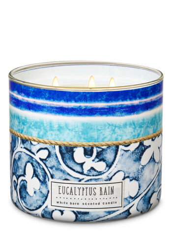 White Barn Eucalyptus Rain 3-Wick Candle - Bath And Body Works