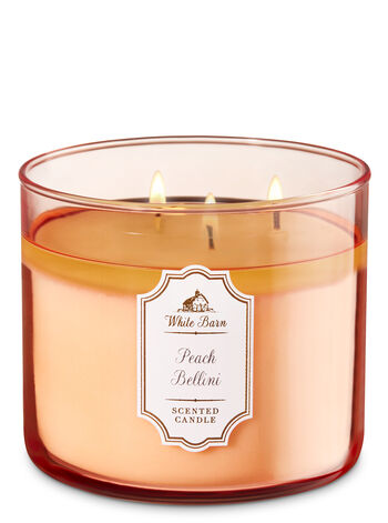 White Barn Peach Bellini 3-Wick Candle - Bath And Body Works
