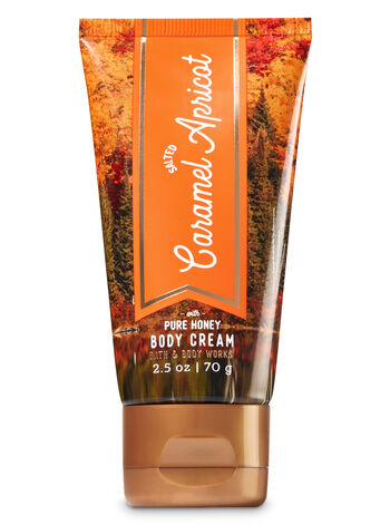 Signature Collection Salted Caramel Apricot Travel Size Body Cream - Bath And Body Works