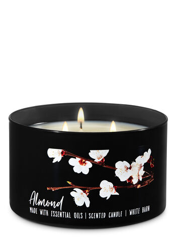 Almond 3-Wick Candle - Bath And Body Works