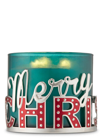 Merry Christmas 3-Wick Candle Holder - Bath And Body Works