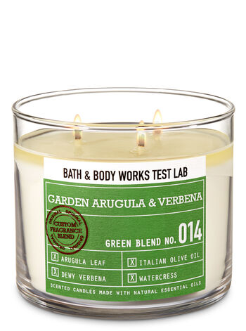 Bath & Body Works Test Lab Blend No. 014 Garden Arugula & Verbena 3-Wick Candle - Bath And Body Works