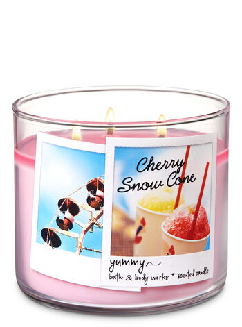 Cherry Snow Cone 3-Wick Candle - Bath And Body Works