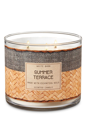 Summer Terrace 3-Wick Candle - Bath And Body Works