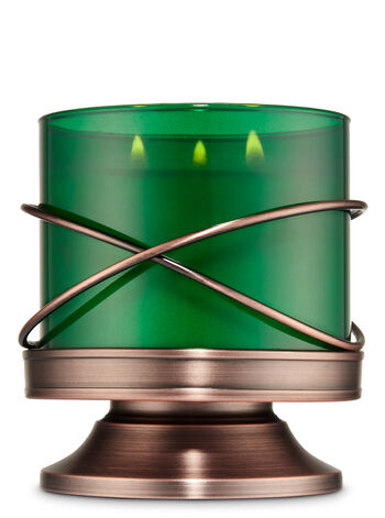 X Wire Pedestal 3-Wick Candle Sleeve