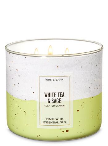White Barn White Tea & Sage 3-Wick Candle - Bath And Body Works