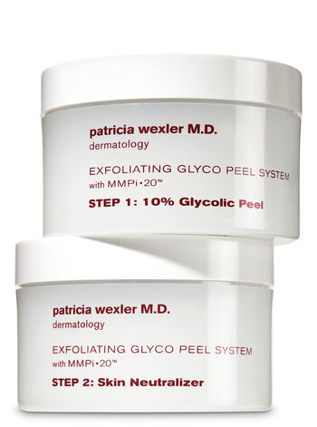 Wexler Exfoliating Glyco Peel System 2 Steps for Even Skin Tone & Cell Renewal - Bath And Body Works