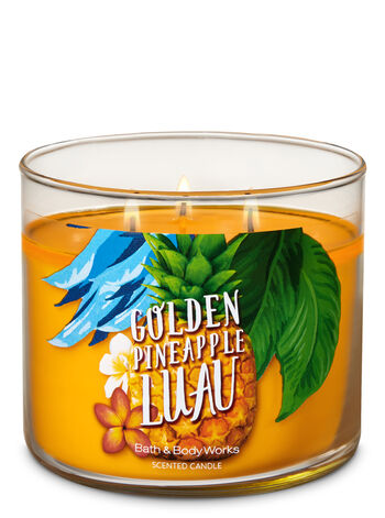 Golden Pineapple Luau 3-Wick Candle - Bath And Body Works
