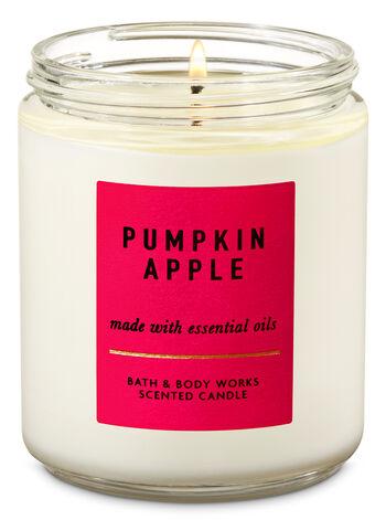 Pumpkin Apple Single Wick Candle - Bath And Body Works