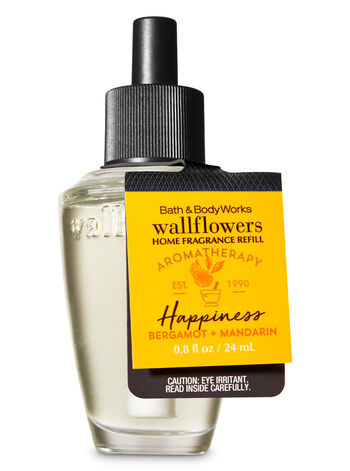 Aromatherapy Happiness - Bergamot & Mandarin Wallflowers Fragrance Refill - Bath And Body Works