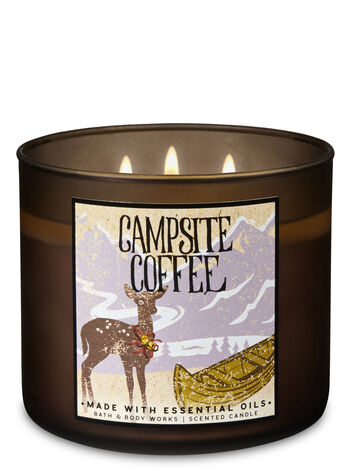 Campsite Coffee 3-Wick Candle - Bath And Body Works