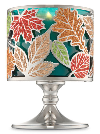 Leaf Pedestal 3-Wick Candle Holder - Bath And Body Works