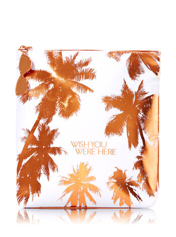 At the Beach Wish You Were Here Cosmetic Bag