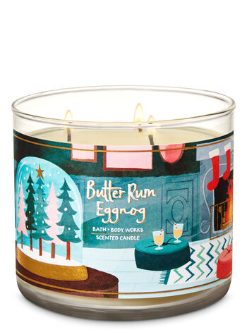Butter Rum Eggnog 3-Wick Candle - Bath And Body Works
