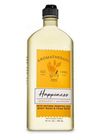 Aromatherapy Happiness - Bergamot & Mandarin Body Wash & Foam Bath - Bath And Body Works