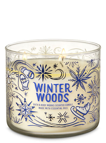 Winter Woods 3-Wick Candle - Bath And Body Works