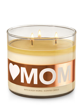 Love Mom - Praline Pecan 3-Wick Candle - Bath And Body Works