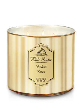 White Barn Praline Pecan 3-Wick Candle - Bath And Body Works