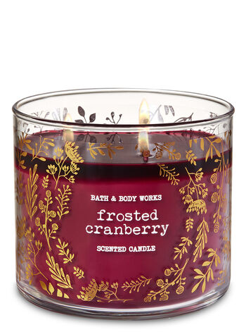 Frosted Cranberry 3-Wick Candle - Bath And Body Works